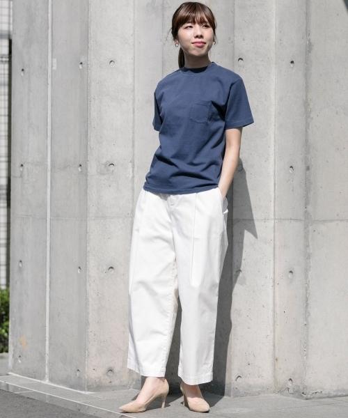 L.IDCN クルーネックチューブポケット Tシャツ