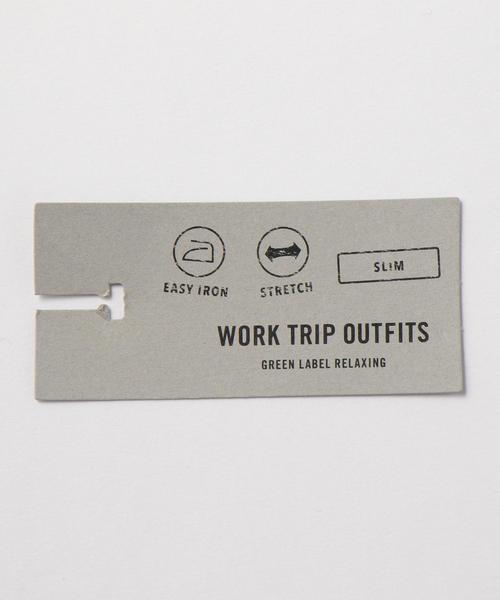 【WORK TRIP OUTFITS】ワイドカラー TC ブロード シャツ<スリムフィット>