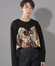 PAGEBOY(ページボーイ)のスカーフレイヤードライクプルオーバー(Tシャツ/カットソー)