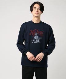 MOUNTAIN CAT pt リブ付Tシャツネイビー