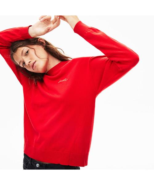 【ファッション通販】 『LACOSTE L!VE』カシミアブレンドモックネックニットセーター(Tシャツ/カットソー)|LACOSTE L Lacoste!VE(ラコステライブ)のファッション通販, ルモイシ:f0a7192d --- 888tattoo.eu.org