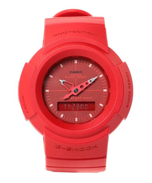 BEAMS(ビームス)の「G-SHOCK / AW-500BB-4EJF/1EJF アナログ ウォッチ(アナログ腕時計)」|レッド