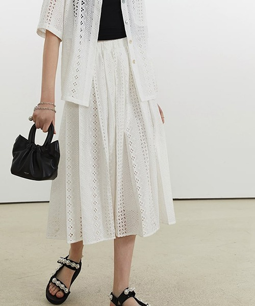 【Fano Studios】【2021SS】Geometry lace skirt FX21T001S