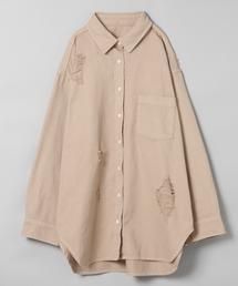 JEANASIS(ジーナシス)のデニムクラッシュオーバーシャツ/822085(シャツ/ブラウス)