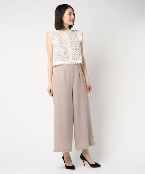 e43da917f32cc MEW S REFINED CLOTHES(ミューズ リファインド クローズ)のレースブラウスコンビネドレス(ドレス