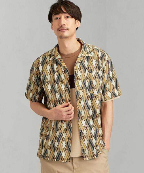 MC MULHOUSE オープンカラー�A 半袖シャツ