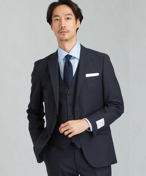 LANEROSSI チェック 2B S/FZ NT HP スーツジャケット