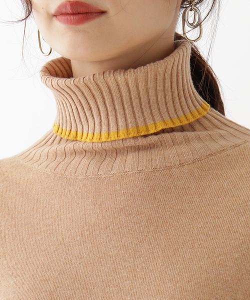aquagirl(アクアガール)の「SEMI COUTURE ラインハイネックニット(ニット/セーター)」|詳細画像