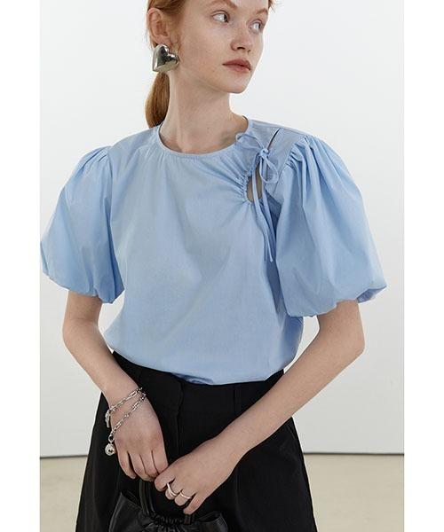 【Fano Studios】【2021SS】Volume puff sleeve blouse FX21S160