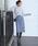 Jewel Changes(ジュエルチェンジズ)の「CS PEケミカルレース Iラインスカート / レーススカート(スカート)」|ライトブルー