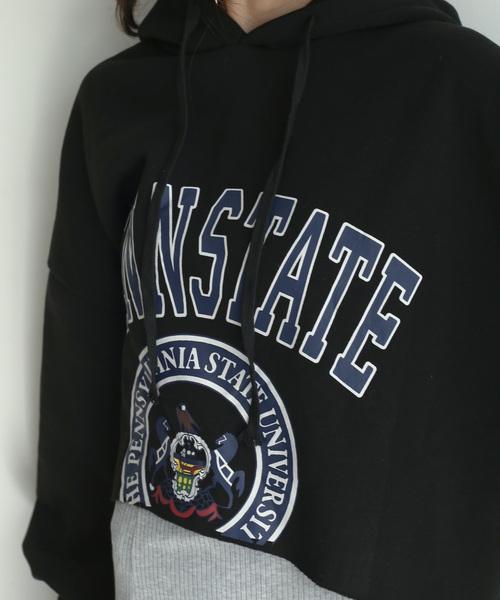 【SHAGGIE】裏起毛ショートパーカー