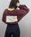 tiptop(ティップトップ)の「【ZOZO限定アイテム】後ろボックスロゴビッグロンT(Tシャツ/カットソー)」|エンジ