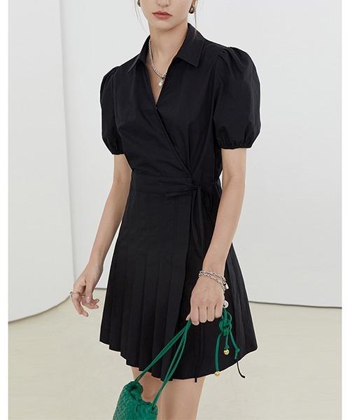 【Fano Studios】【2021SS】Cachecoeur pleated short dress FX21L126