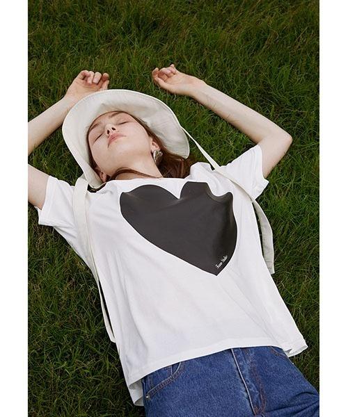 【Fano Studios】【2021SS】Big heart T shirt FX21S110