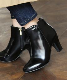 SESTO(セスト)のシンプルすっきりシルエットのショートブーツ(ブーツ)