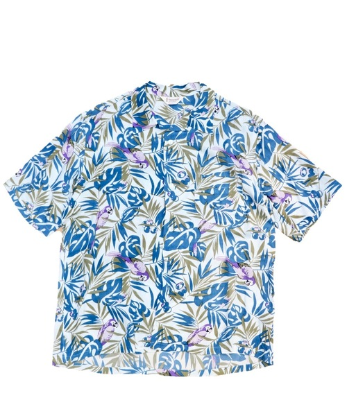 TOWN CRAFT/タウンクラフト LEAF PRINTED OPEN SHIRTS