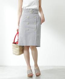 PROPORTION BODY DRESSING(プロポーションボディドレッシング)のマリンストライプトレンチスカート(スカート)