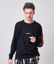 JACKROSE(ジャックローズ)のJE-ローズ刺繍・ロンT(Tシャツ/カットソー)