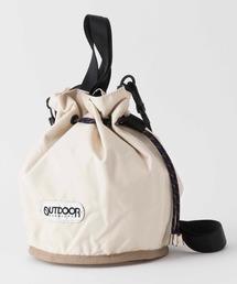 MIRAMAR MINIBAG 111114 巾着バッグ/ショルダーバッグ レオパード/ヒョウ柄 ブランドロゴアイボリー