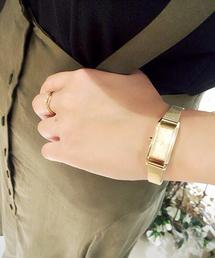 ete(エテ)のウォッチコレクション レクタングルフェイス イエローゴールドベルト(腕時計)