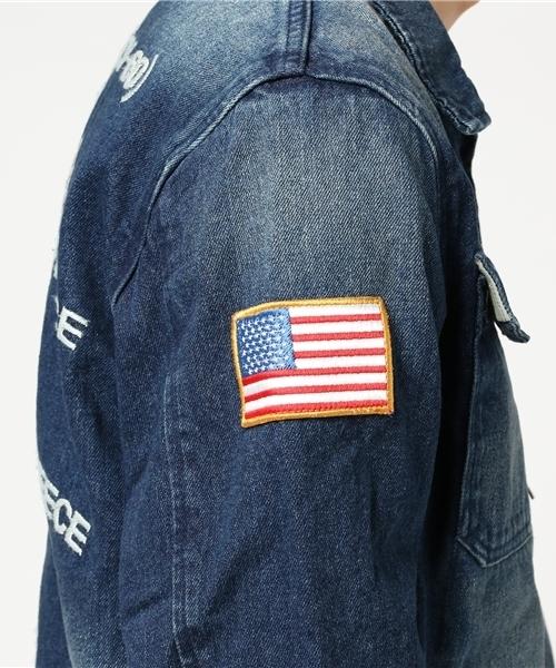 【HOUSTON】 デニム刺繍ツアージャケット