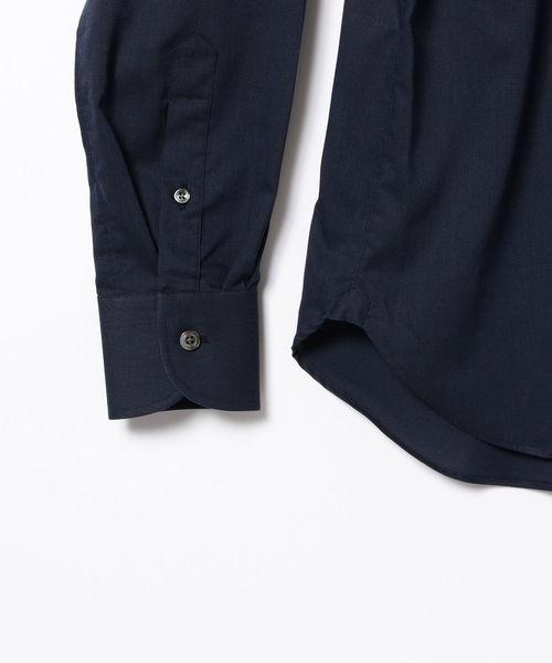 ◎BEAMS F / クールマックス(R) パナマ織り ワイドカラーシャツ