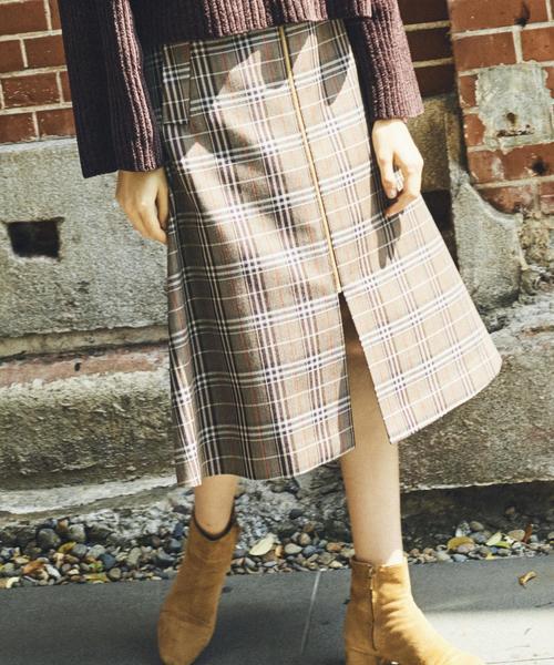 『BRACTMENT(ブラクトメント)』W/P フロントZIPトラペーズスカート