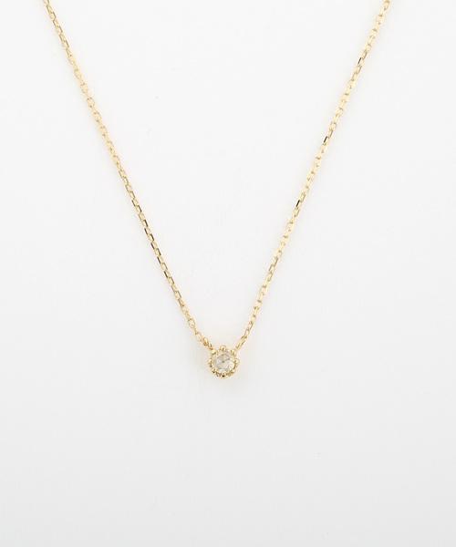 Jouete(ジュエッテ)の「K18 ダイヤモンド ネックレス(ネックレス)」|A