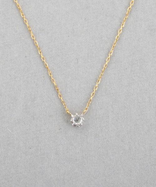 Jouete(ジュエッテ)の「K18 ダイヤモンド ネックレス(ネックレス)」|B