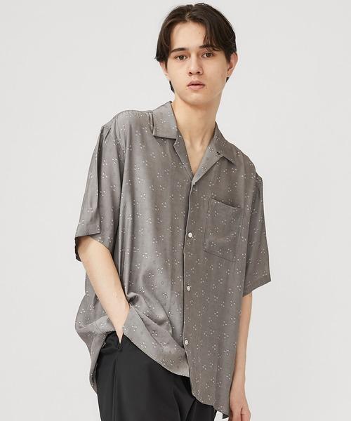【CLANE HOMME】オープンカラーシャツ/28108-1141