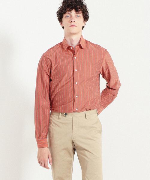 46ゲージコットンジャージー セミワイドカラーシャツ