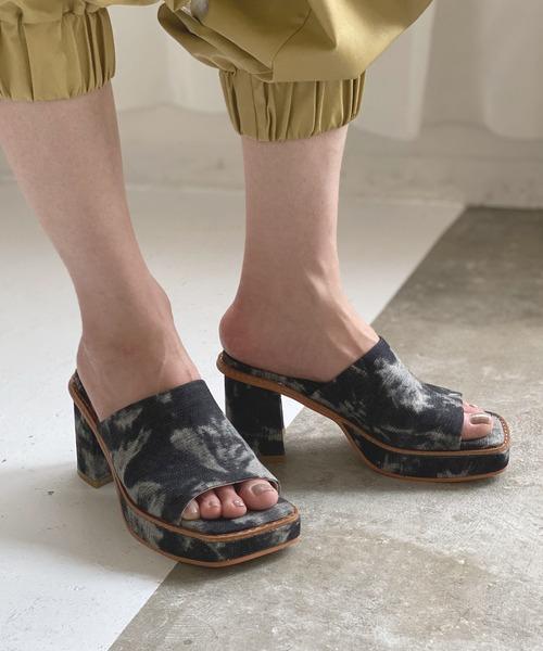 【chuclla】【2021/SS】Square toe chunky heel sandal chs126