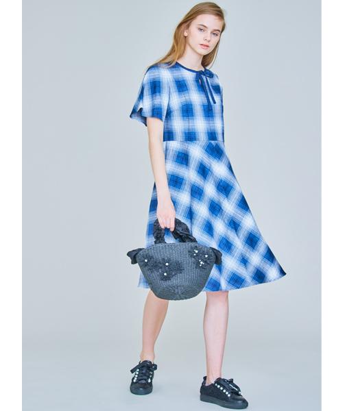 TO BE CHIC(トゥー ビー シック)の「オンブレーチェックドレス(ワンピース)」|詳細画像