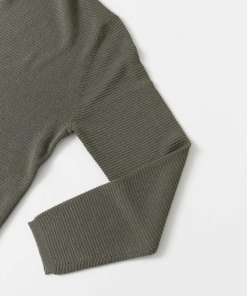 タック編みカーディガン