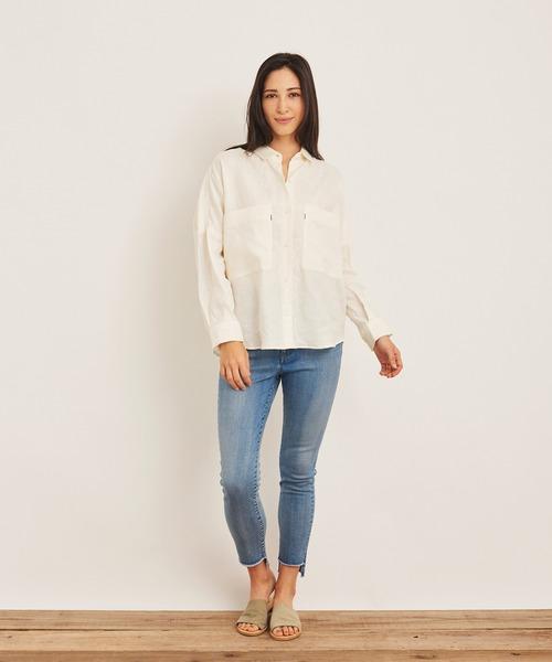 【おまけ付】 MARIE MILLER LINEN MILLER,マリー SLAB SHIRT (マリー ミラー LINEN リネンスラブシャツ)(3colors)(Women's)(ホワイト SHIRT ベージュ ブルー)(シャツ/ブラウス) MARIE MILLER(マリー ミラー)のファッション通販, DELL:205204b7 --- pitomnik-zr.ru