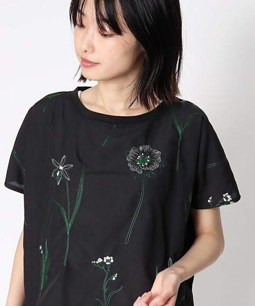 【 BARNDOOR / バーンドア 】ボタニカル刺繍ブラウス 1142111G BUR