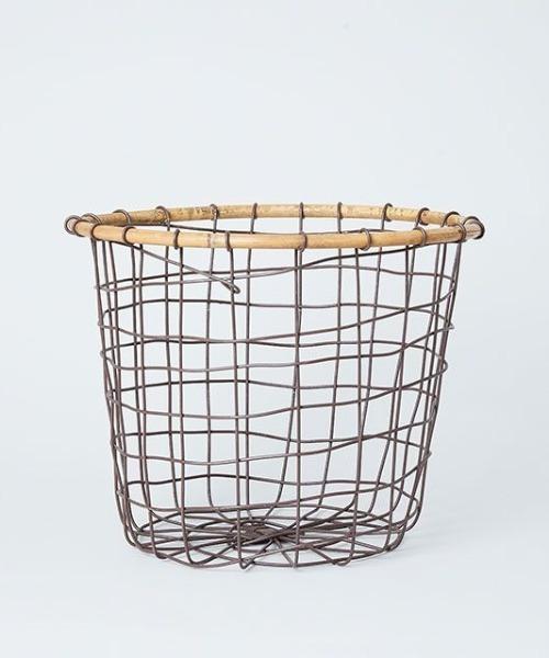 TODAY'S SPECIAL(トゥデイズスペシャル)の「ラタントップ ワイヤーバスケット M(収納グッズ)」|ブラウン