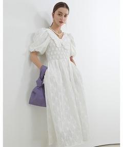 【Fano Studios】【2021SS】Doll collar cotton embroidered dress FX21L124