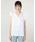 SISLEY(シスレー)の「アイレットリボンフリルノースリーブシャツ・ブラウス(シャツ/ブラウス)」|オフホワイト