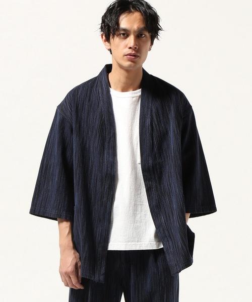 玄関先迄納品 KASURI-SASHICO KIMONO COAT#, スポーツアオモリ ad65a604