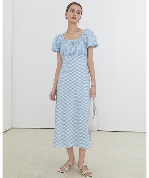 【Fano Studios】【2021SS】Gingham check smart dress FX21L080