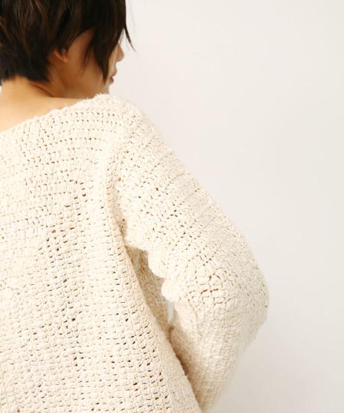 crochet knit tops