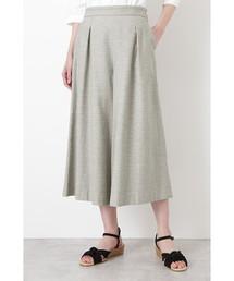 HUMAN WOMAN(ヒューマンウーマン)の≪Japan couture≫撚杢コットンツイルキュロット(パンツ)