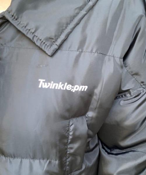 Twinkle;pm(トゥインクルピーエム)の「【ZOZOTOWN限定アイテム】ロゴ入りペディンコート(ダウンジャケット/コート)」|詳細画像