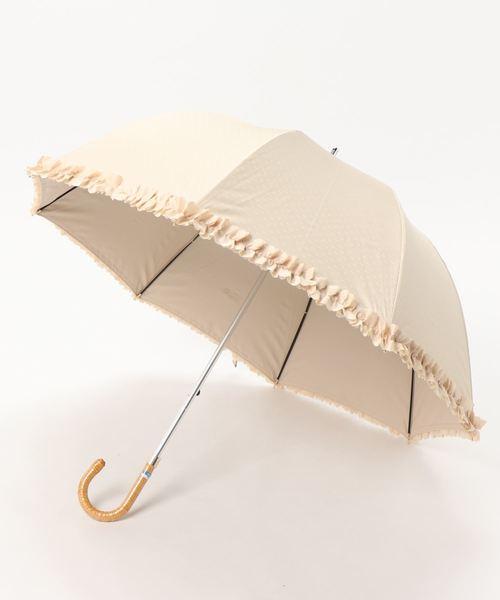 晴雨兼用傘 'ドビーフリル'