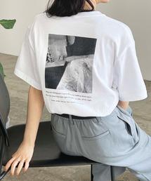 Lian(リアン)のオーバーサイズフォトプリントTシャツ(Tシャツ/カットソー)