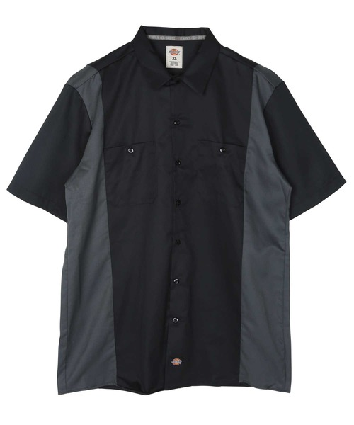 Dickies Men/'s Two Tone Twill Short sleeve Work Shirt Style  WS508 black red blue