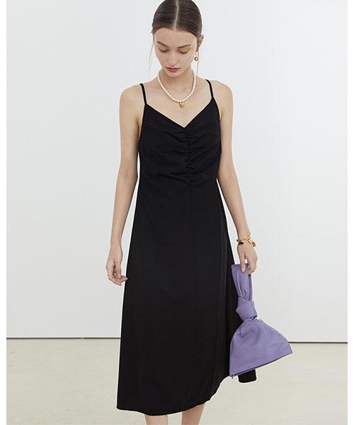 【Fano Studios】【2021SS】V neck clean slender dress FX21L151