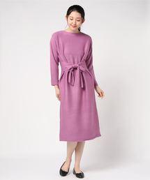 MEW'S REFINED CLOTHES(ミューズリファインドクローズ)のカシミヤタッチニットワンピース(ワンピース)