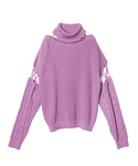 AMERI | CONNECT TURTLE NECK KNIT(ニット・セーター)